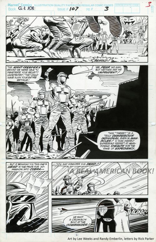 G.I. Joe 107 page 3, Lee Weeks and Randy Emberlin