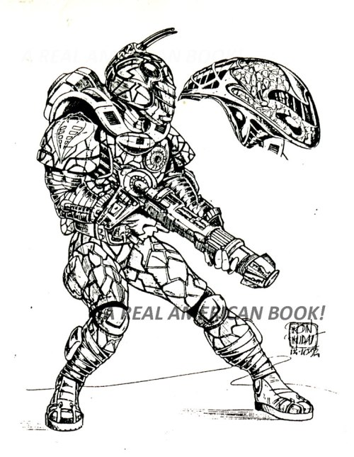 1994 Star Brigade Cobra Commander drawn by Ron Rudat