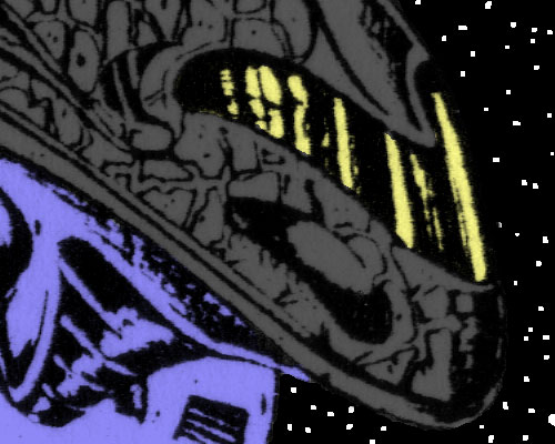 Star Brigade Cobra Commander detail, drawn by Ron Rudat, colored just for this blog by Tim Finn