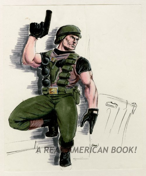1992 G.I. Joe Duke art by Kurt Groen in alternate colors