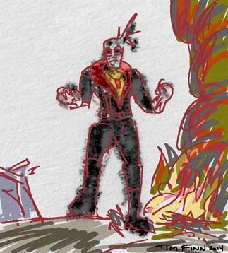 G.I. Joe sketch of Destro by Tim Finn