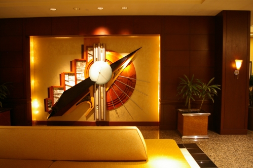 Hyatt Dallas lobby sculpture art