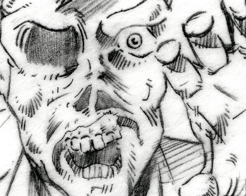 Kurt Groen 1990 G.I. Joe Cobra Zombie pencil detail