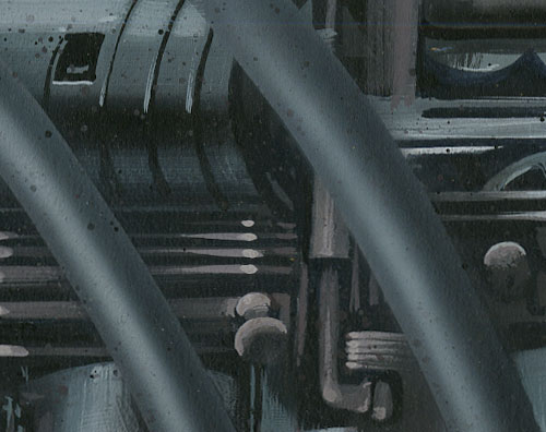 GI Joe: The Movie Background Key TerrorDrome Hallway detail by Robert Schaefer