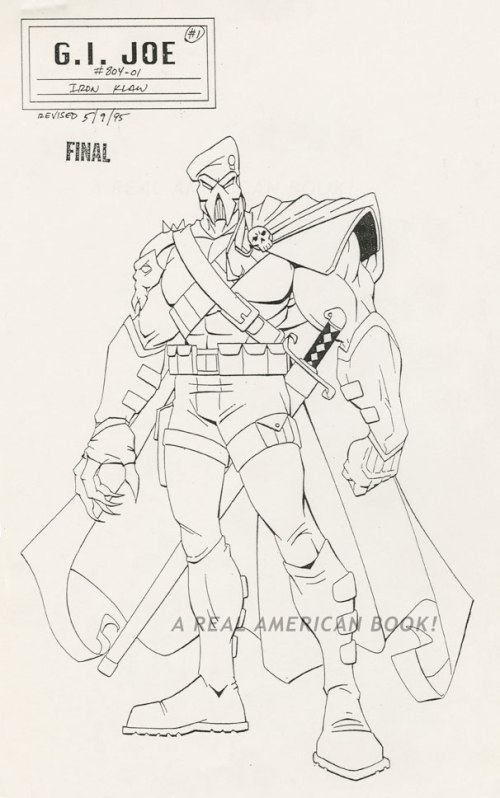 GI Joe Extreme model sheet Iron Klaw