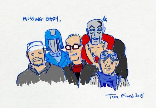 Gary Goggles Head Tim Finn