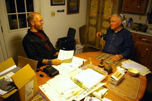 Tim Finn visits Bill Merklein