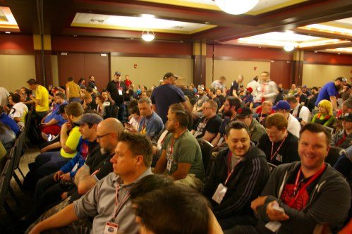 crowd at JoeCon2015 Hasbro panel