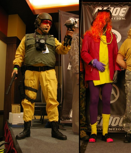 Scoop and Snake Eyes cosplay JoeCon 2015