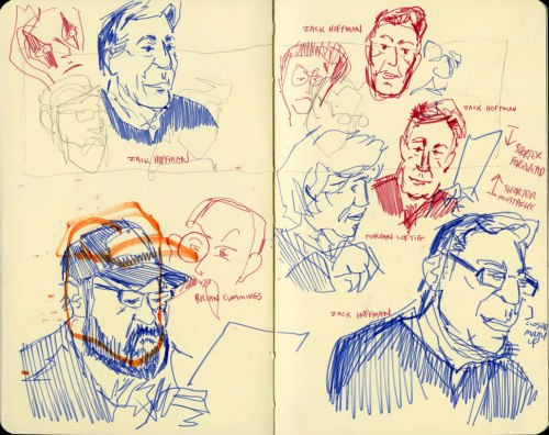 JoeCon2015 Tim Finn sketch of voice actors