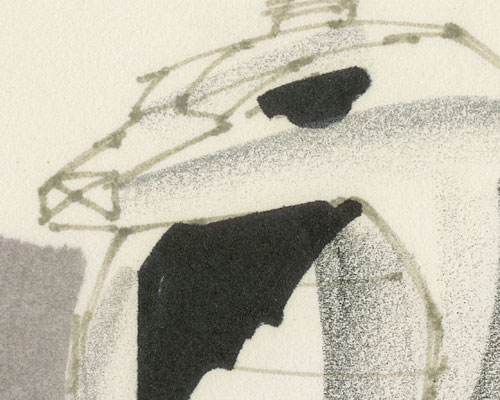 Serpentor Air Chariot sketch detail by Ron Rudat