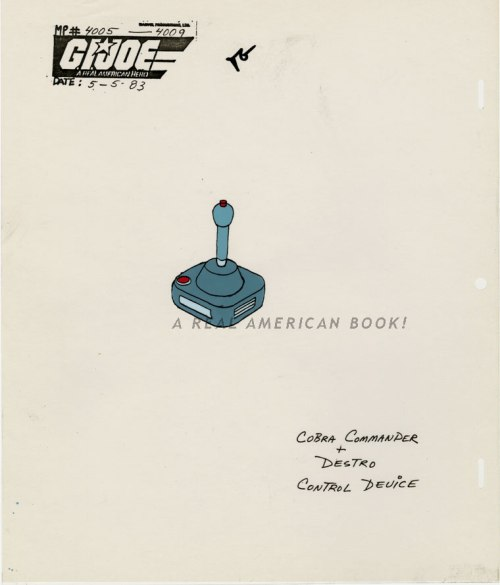 GI Joe animation model sheet