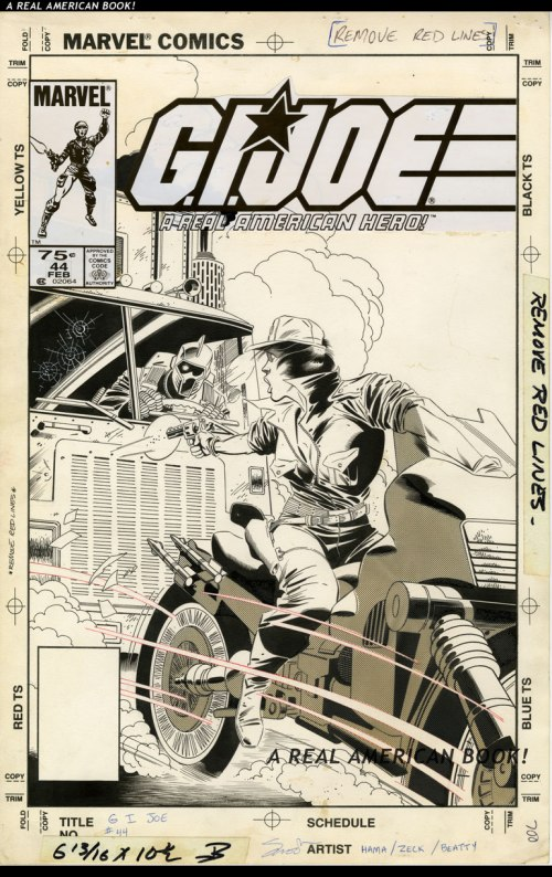 GI Joe 44 cover original art by Mike Zeck and John Beatty