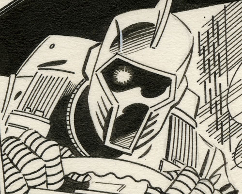 GI Joe 44 cover original art detail by Mike Zeck and John Beatty