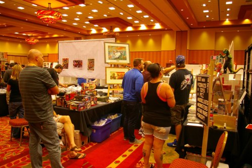 GI Joe con 2016 dealer table