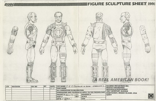 Cesspool 1991 GI Joe turnaround photocopy art by Kurt Groen