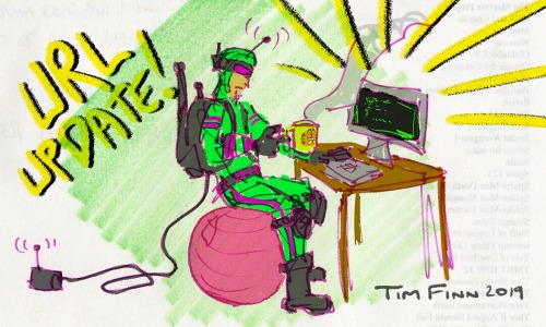 Tim Finn art of invented G.I. Joe figure, Wifi-Viper, to announce a small upgrade in his blog, A Real American Book!