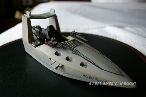 Photo of grey GI Joe Cobra Piranha model circa 1988 designed by Dave Kunitz