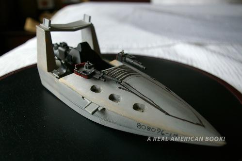Photo of grey GI Joe Cobra Piranha model circa 1988 designed by Dave Kunitz