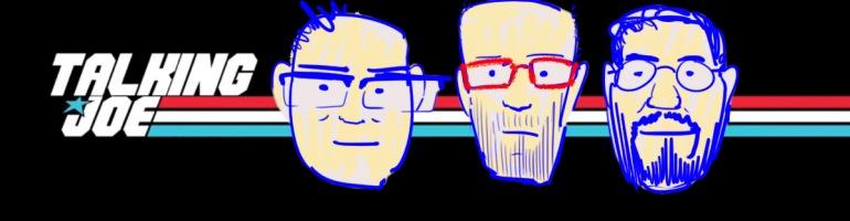 Talking Joe logo and three heads